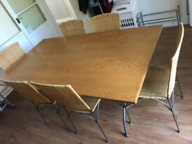 Dining Table With 6 Chair Matching Set