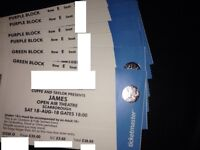 JAMES~5TH ROW SEATS~2/4 AVAILABLE~SCARBOROUGH~OPEN AIR THEATRE~100% TRUSTED SELLER