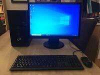 Fujitsu PC and Fujitsu screen