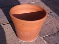 Large Terracotta Patio Plant Pot - Height 13 inches