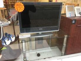 SonyHD 22'' LCD COLOUR TV WITH GLASS TV STAND