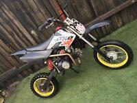 110cc semi auto pit bike/pitbike (big wheel not quad scooter)