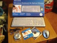 Belkin Wireless Keyboard and Optical Mouse Brand New in Box