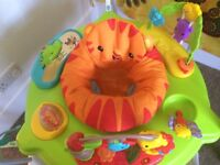 Fisher-Price Roaring Rainforest Jumperoo Baby Music Seat Lights & Sounds