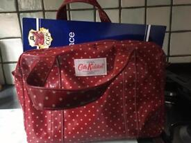 Cath kidston red spotty bag and purse immaculate condition