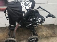 Magnum black and white pushchair.
