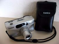Immaculate Konica Z.up80e compact 35mm film camera with 35-80mm zoom lens - good working order £7.50