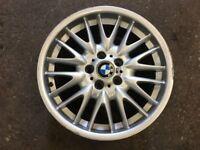 Genuine BMW E46 MV1 18 inch single rear alloy wheel 8.5Jx18 5x120 330 328 325 318