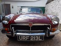 1973 MGB Classic 1.8 Roadster. All Original Chrome Bumper model with Overdrive and only 2 owners