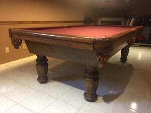 8' DUFFERIN POOL TABLE INSTALLED