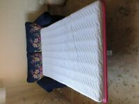 Joules Cambridge Velvet 2 Seater Sofa Bed, navy floral. Worth £1400