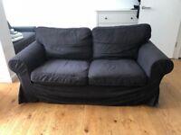 Ikea Ektorp 2 Seater Sofa - Black - Good Condition