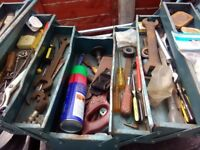 metal toolbox and contents