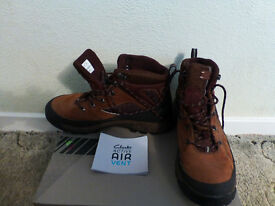 Clarks Gore-Tex Boots, Tan, Size 8