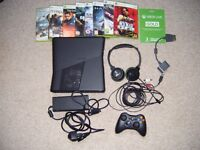 XBOX 360 S 320GB,Turtle Beach Headset,3 Months Xbox Live and 8 Games.