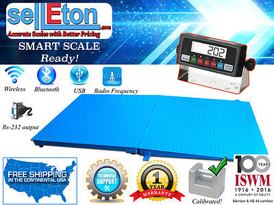 New 48 X 48 Pallet Size Floor Scale With A Ramp 10000 Lb Capacity
