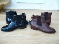 BRAND NEW and BOXED - 2 pairs of Samuel Windsor Hand made Italian Leather Mens boots