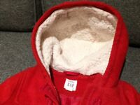 Baby Gap red Duffle coat, 12-18 months