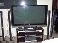 lg 50 inch tv plus surround sound dvd