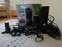 Xbox 360 250GB black console in original box & extras -excellent condition