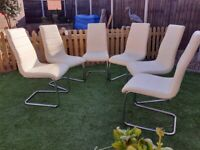 Dining chairs, 6 dinner table chairs, high backed chairs
