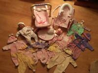 Baby Annabell Doll with Dummy, Car Seat, Bouncer, Changing Bag, Carrier, Night Light & Outfits