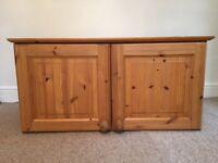 Top Box for Pine Double Wardrobe - good condition topbox