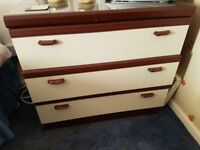 Wardrobe and chest of drawers