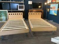 Single wooden beds sold separately