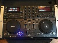 Gemini CDMP-6000 CD/USB decks, integrated mixer and Gemini flight case