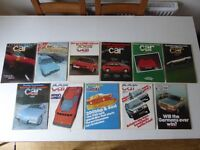 Vintage editions of CAR Magazine. 11 issues from 1979.