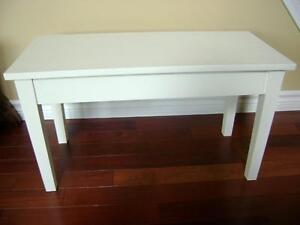 White piano bench