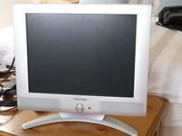 "Toshiba 15"" LCD TV with digibox"