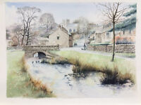 Downham Village water colour