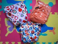 Pocket Cloth Nappies (suitable from birth to potty-training)
