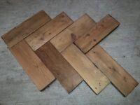 Reclaimed Pine Parquet Flooring