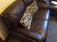 Brown Leather Sofa 3 & 2 Seater !!!!