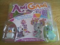 Childens' craft: Amigami Penguin and Polar Bar Set - complete/brand new unopened