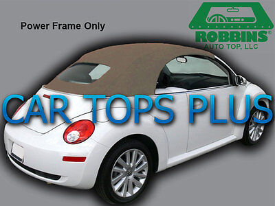 2003-11 Volkswagen Beetle Convertible Top & Heated Glass Tan Stayfast Cloth