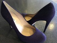 LK Bennett 'Laura' stiletto heeled shoes (Purple) size 8 (41):