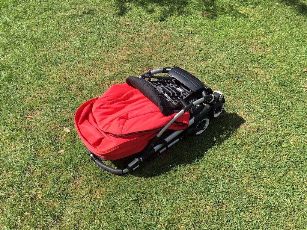 Bugaboo Bee (Red) with Rain Cover and Foot Muff