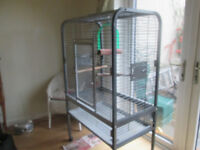 Parrot Cage Large Montana suit African Grey excellent condition powder sprayed antique/stone