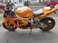 Motorbike Honda CBR 900 Fireblade Orange