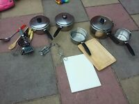 Saucepans and other utensils