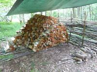 Firewood; seasoned, hardwood logs from Norfolk woodland managed for biodiversity, free delivery.