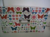 Storage boxes - butterfly pattern x 2 NEW