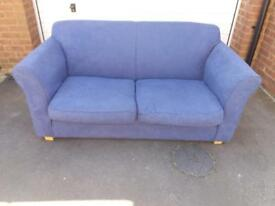 Blue 2 seater sofa like new