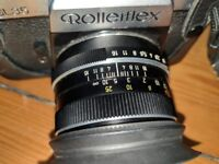 Rolleiflex SL35 Camera with Planar lense 1.8/50 and leather case