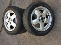 R56 Mini alloy wheels two good 175/65R15 tyres