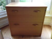 BEECH EFFECT 2 DRAWER LATERAL FILING CABINET